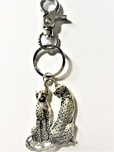 Cheetah Key Chain, Cheetah Key Ring, Cheetah Purse Fob, Zipper Pull, Andrea Lapins Art, Handmade, Handmade Jewelry, Cheetah Zipper Pull, Purse Accessory Andrea Lobster
