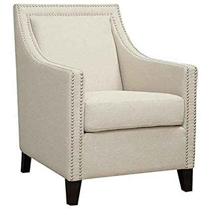Amazon.com: Hebel Janelle Accent Chair with Nailhead Trim ...
