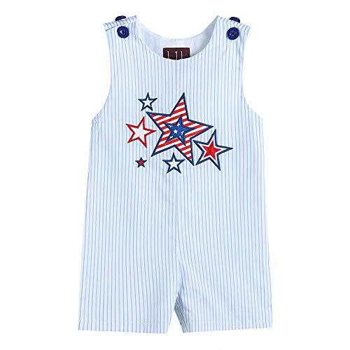 Lil Cactus 34036020093 Boys Short-All Blue Stripes USA - Boyshort Lulu