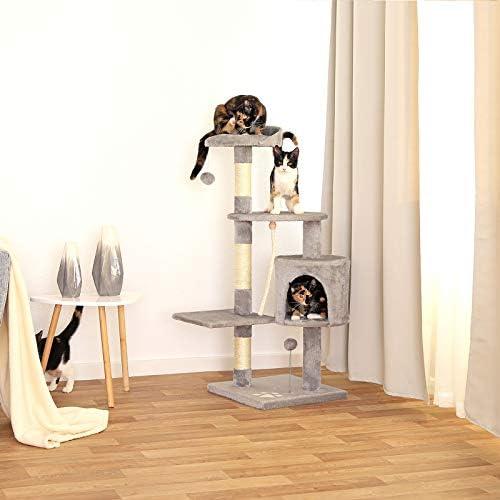 dibea Griffoir pour Chats, 112 cm Gris Clair