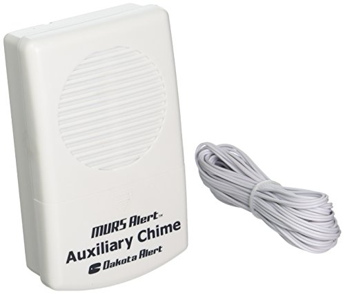 (Dakota Alert MURS Auxiliary Chime - Battery-Operated Wired Ringer For M538-BS MURS Base Station)