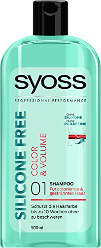 Syoss Shampoo Silicone Free Color & Volume, 3er Pack (3 x 500 ml)