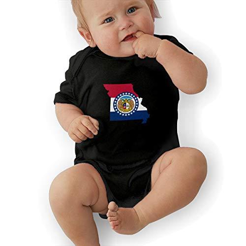 Missouri State Flag MO Map Baby Short Organic Onesies Organic Bodysuits ()
