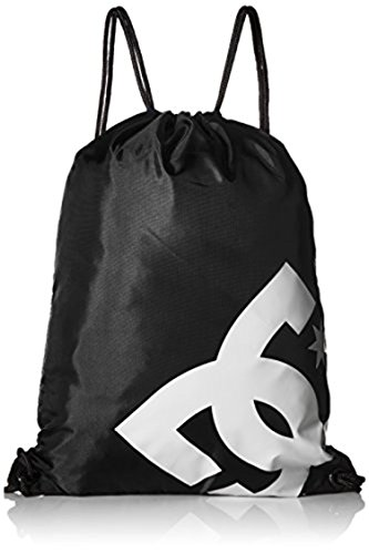 DC Shoes Men's Cinched Drawstring Backpack Black OS & Cooling Towel Bundle (Dc Shoes Mens Backpack)