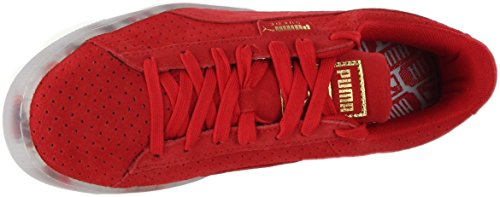 PUMA Women's Suede Classic V2 Perf High Risk Red White Athletic Shoe LM7Gu