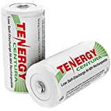 Tenergy Centura NiMH Rechargeable C Batteries, 4000mAh C Battery, Low Self Discharge C Cell Battery, Pre-charged C Size Battery, 2 Pack