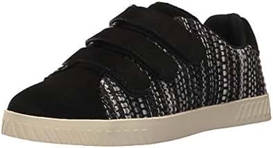 TRETORN Women's CARRY4 Sneaker, Black Suede, 4 M US