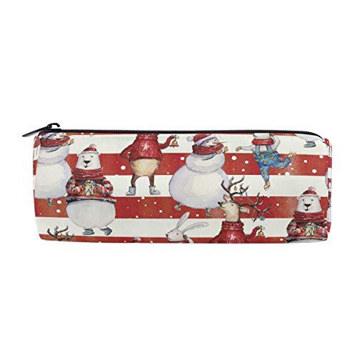 ALAZA Merry Christmas Pen Pencil Case Bag,Watercolor Cartoon