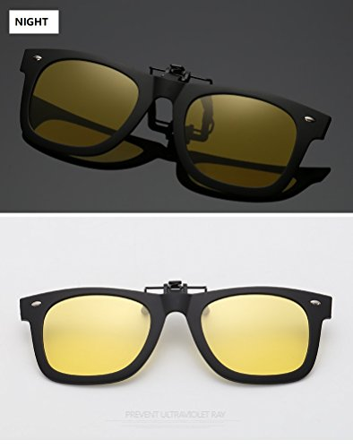 Montar la la Sol para Clip UV Vista Lente de de Clip Gafas Anti Gafas de de Bicicleta UVA Anti de de en en polarizado conducción la Cicongzai Night visión Nocturna Clip y miopía Cerca Diurna qSOUWt6tx
