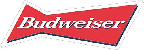 Budweiser 2 – Vinyl Sticker Decal – logo full color Bar Man Cave Beer (7″)