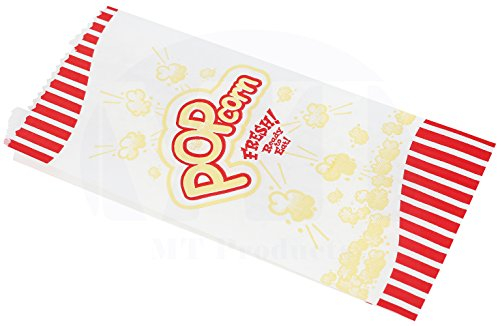 MT Products Popcorn Bags, 1 oz, Red & Yellow, (100 Pieces) by MT Products