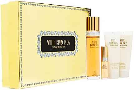 White Diamonds by Elizabeth Taylor Eau De Toilette Spray Set, 4 Piece Gift Set