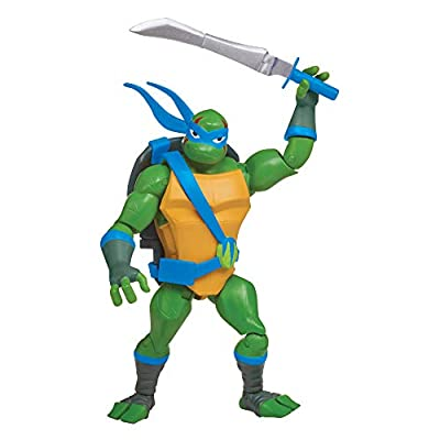 Rise of the Teenage Mutant Ninja Turtles Battle Shell Leonardo Action Figure: Toys & Games