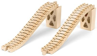 Wooden Train Track - Bridge Track w/Supports - Made in USA Doug Track Support