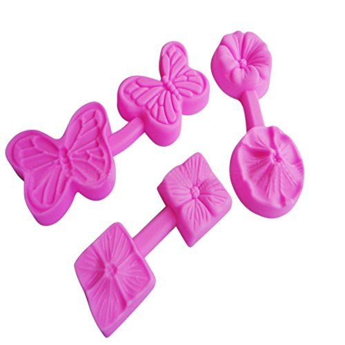 Cake Mould,Hunzed DIY 3D Flower shape Fondant Cake Mold Decorating Cookies Embossing Die Cutter Mold Tool Baking Mould