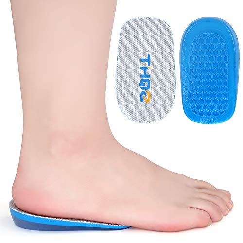 SQHT Height Increase Insoles - Heel Lift Inserts for Leg Length Discrepancies and Achilles Tendonitis, Heel Cups for Men and Women (0.6'' Height)