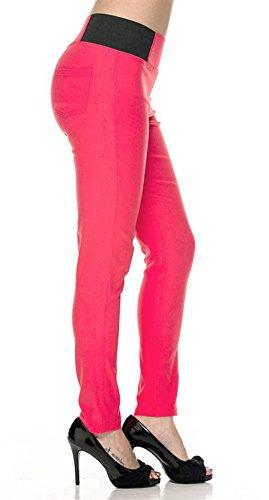 Women's Basic Stretch Fit Skiny Pants Ponte Leggings 41iR32TGb1L