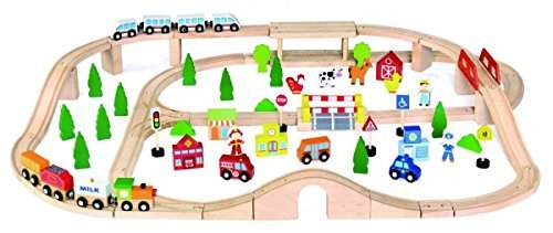 VIGA train set 90 pieces 50998 by Peace Industry
