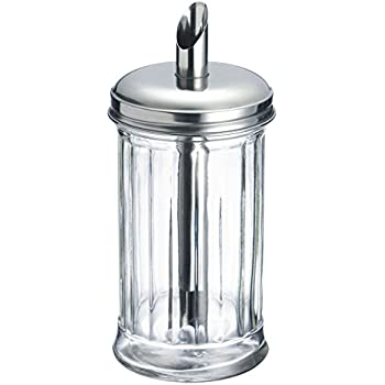 Sugar Shaker Dispenser Inverted Thistle Pattern Mosser Glass