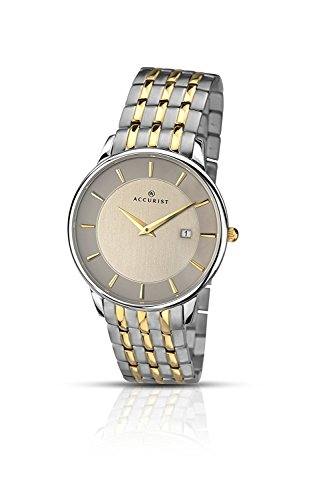 Accurist Men's Watch Grey Dial Two Tone Stainless Steel Bracelet 7048.01