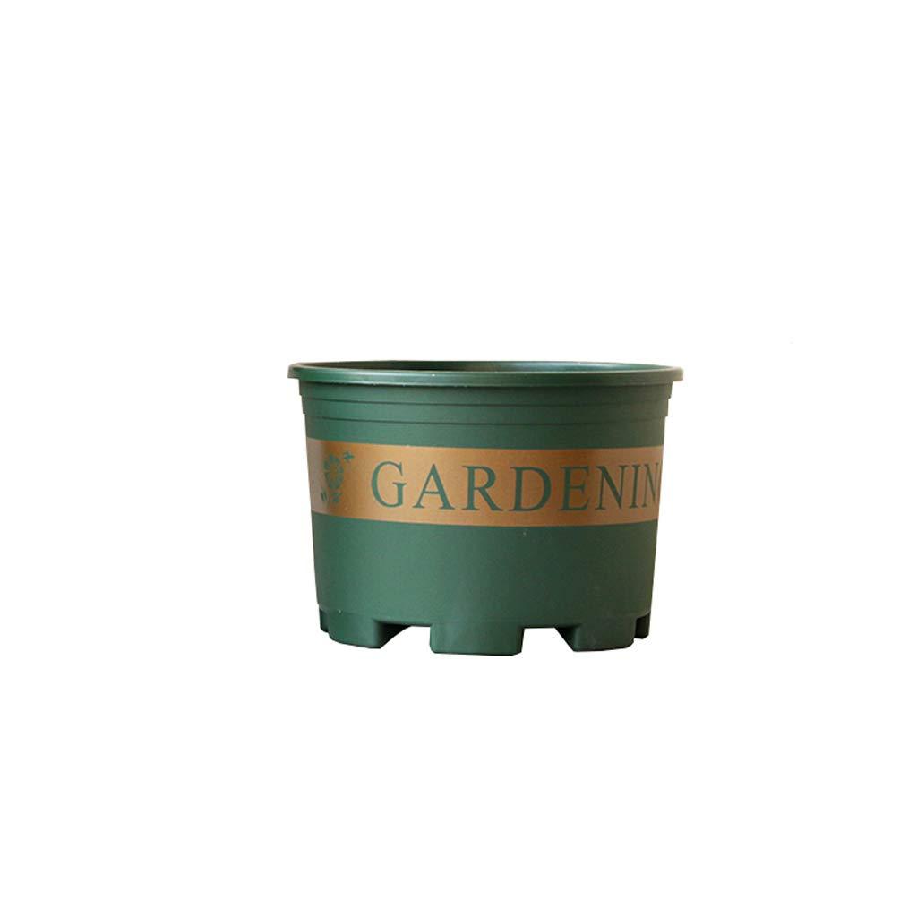 CJH 16cm Chunky Indoor Flowerpot Balcone Meat Bowl Home Piantare plastica Flower Pot Semplice Round verde Flower Pot 5