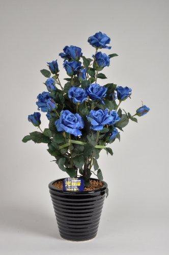 国内生産で安心の光触媒ばら(バラ薔薇)1本立 青(ブルー)光触媒とアミノ酸のダブルコーティング 消臭力と抗菌力を発揮するアートフラワー(造花) B004P0DXXW