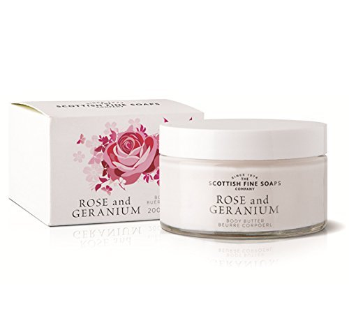 Scottish Fine Soaps Rose & Geranium Body Butter 200ml Jar by Scottish Fine (200 Ml Rose)