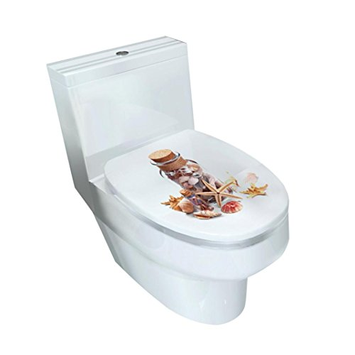 Mixed Designs Toilet Stool Commode Stickers( 32×39CM),Tuscom Wc Pedestal Pan Cover Sticker (Style: H)