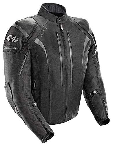 Joe Rocket Atomic Men's 5.0 Textile Motorcycle Jacket (Black, 5X-Large) ()