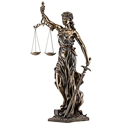 Top Collection Lady Justice Statue - Greek Roman Goddess of Justice