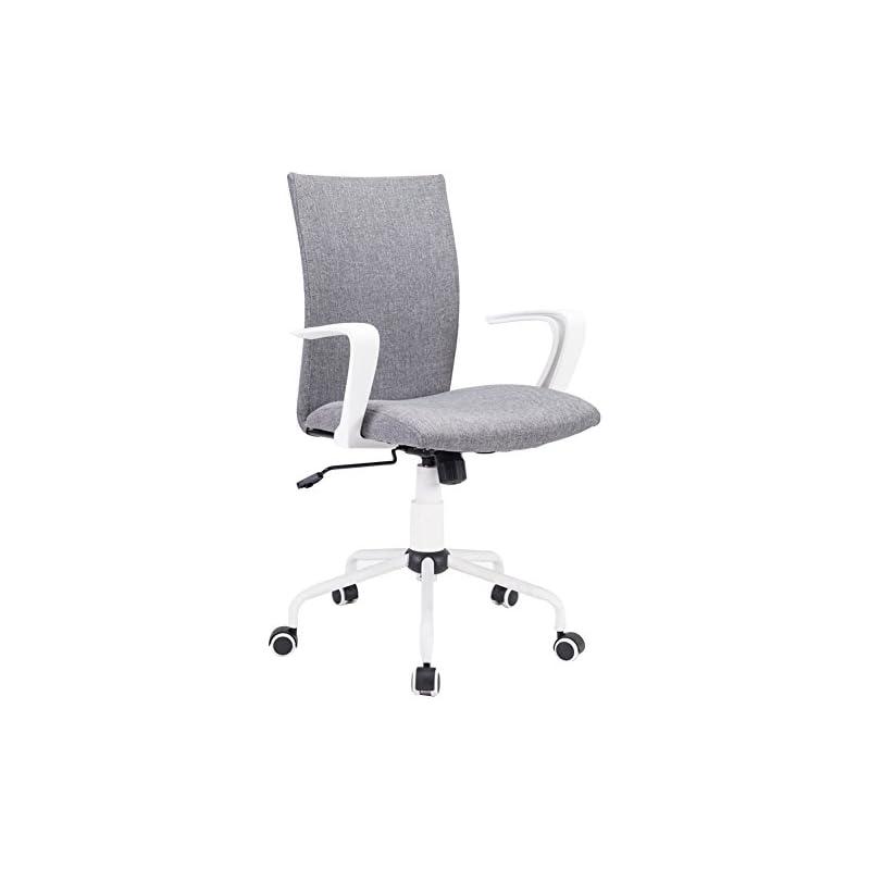 Grey Computer Desk Chair Comfort White S