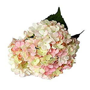 3 PCS Artificial Silk Hydrangea Flower Bouquets Home Garden Party Wedding Decor Design 5