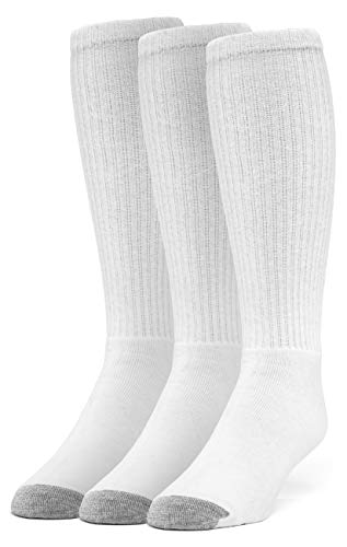 Galiva Women's Cotton Extra Soft Over the Calf Cushion Socks - 3 Pairs, Small, White ()
