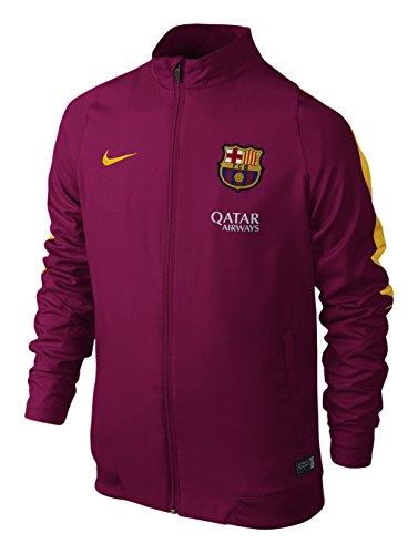 Nike Fcb Rev B Wvn Tracksuit Jungen Trainingsjacke des FC Barcelona 2015/2016 L Rojo / Dorado (Dynamic Berry/University Gold)