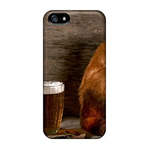 For Iphone 6 4.7(beer And Cat) PC cell phone trendy cases miao's Customization case