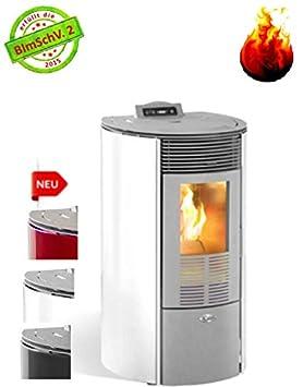 Kalor - Estufa de pellets redonda de cristal Line Mod. 10 Mit 8 Kw: Amazon.es: Bricolaje y herramientas