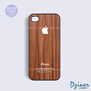iPhone 5 5s Tough Case - Brown Wood Print White Design iPhone Cover
