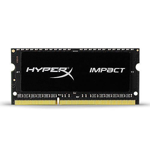 Kingston Technology HyperX Impact 8GB 1600MHz DDR3L CL9 SODIMM 1.35V Laptop Memory HX316LS9IB/8 Black