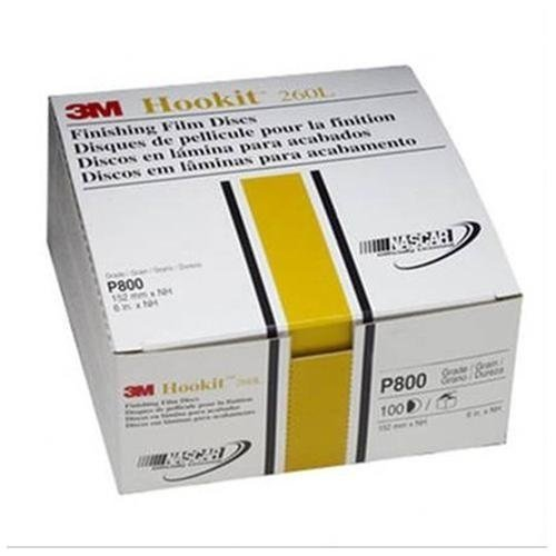 3M 00970 Hookit 6'' P800 Grit Finishing Film Disc (Pack of 4)