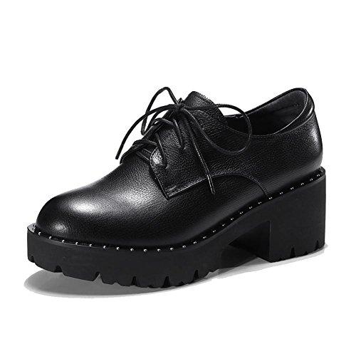 Creepers Black WSXY KJJDE Baskets A0320 Hauts Femme Plateformes Talons Chaussures à wxqPBnX