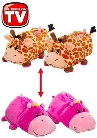 NUMOB Mens Cartoon Tall Yellow Giraffe Non-Slip Soft Foams Slipper Home Slide Sandals