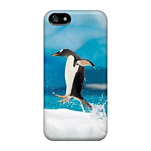 Flexible Tpu Back Case Cover For Iphone 5/5s - Penguin