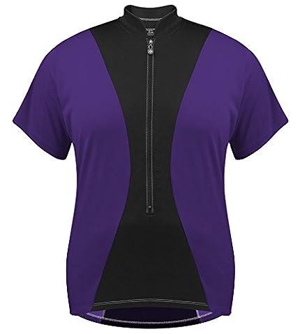 Plus Women's Full Figure Hourglass Jersey - Made in USA (2XL, Purple) - Plus Size Print Jersey