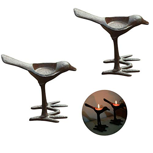 (FUMING Iron Bird Candle Holders, Vintage Home Decor Centerpiece,Tabletop Decorative TeaLight Candle Stands )