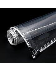 Transparant Waterdicht Dekzeil,heavy Duty Zeil Met Doorvoertules,opvouwbaar Zeildoek,anti-aging Schaduwdoek,kasplanthoezen,365 G/m²,zacht Glas,scheurvastheid,2.3x3m/7.5x9.8ft