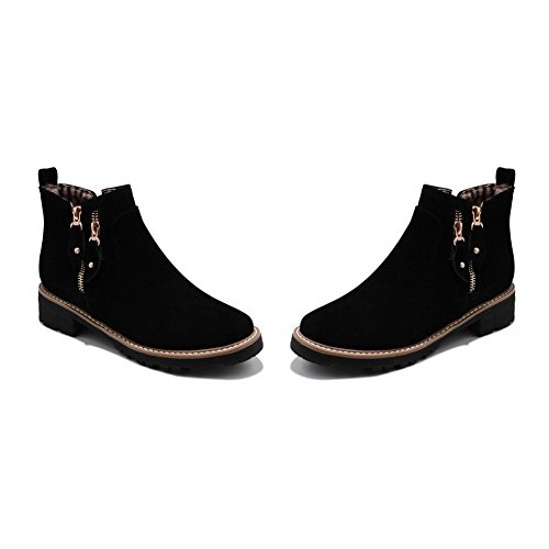 Hard Boots Urethane Toe Ground Round 1TO9 Closed MNS02681 Road Comfort Road Heel Black Kitten Toe Zip Womens Urethane Boots 5q41Zw40