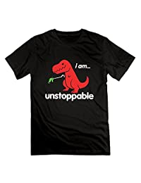 I Am Unstoppable T Rex Funny Adult Tee