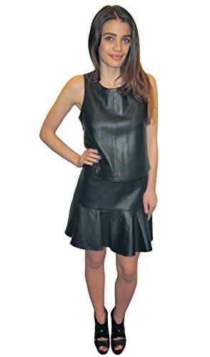 Karina Grimaldi Women's Clara Leather Top in Black, m