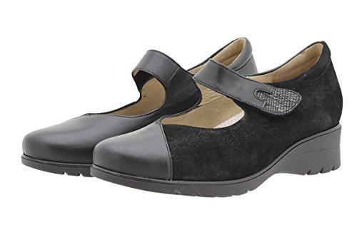 Piesanto Donna 9953 Mary-jane Comfort Extra Wide Negro