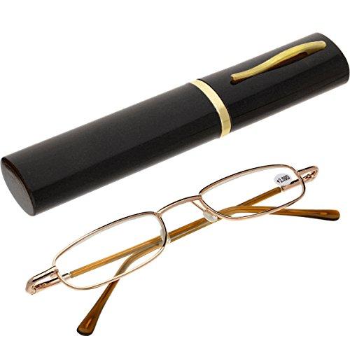 Brille Lesebrille Lesehilfe mit Brillenetuis +2.0 von Oramics